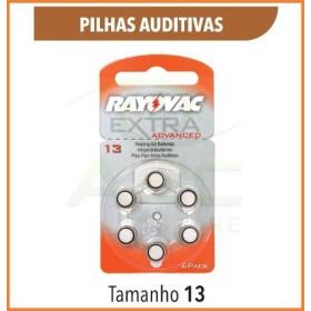 PILHA AUDITIVA 13 | RAYOVAC | APARELHO AUDITIVO | BATERIA | A13 | 06 UN